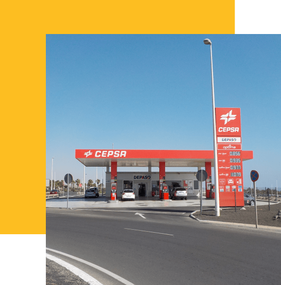 construcción de gasolineras